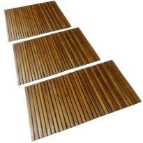 3 x Akazienholz Badematte 80 x 50 cm