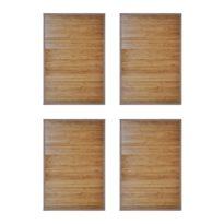 vidaXL Bambus-Badematten 4 Stk. 60 x 90 cm Braun