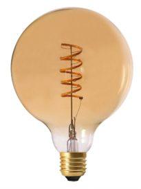 Elect Spiral LED Fil, Globe Gold 125mm