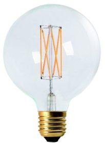 Elect LED Filament, Globe Clear 125mm