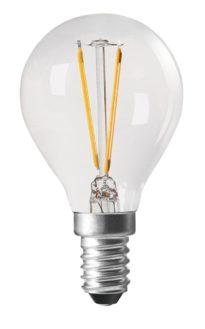 Shine LED Filament, Globe Clear E14