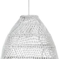Maja Taklampa, White Wicker 45cm