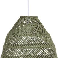 Maja Taklampa, L Green Wicker 36cm
