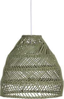Maja Taklampa, L Green Wicker 45cm