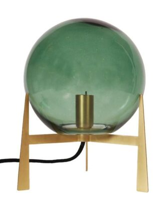 Milla Bordslampa, Gold/Green 28cm