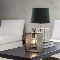 Raw Box Lampfot, Rawsilver 33cm