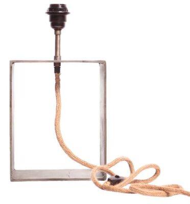 Raw Box Lampfot, Rawsilver 37cm