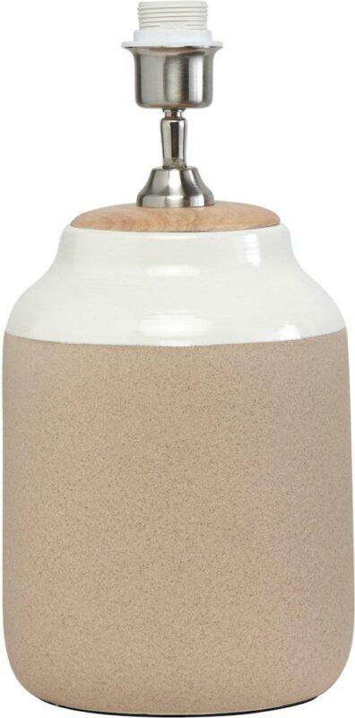Lisbon Lampfot, Beige/white 40cm