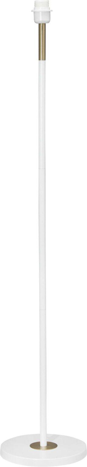Cia Golvfot, White/Brass 130cm