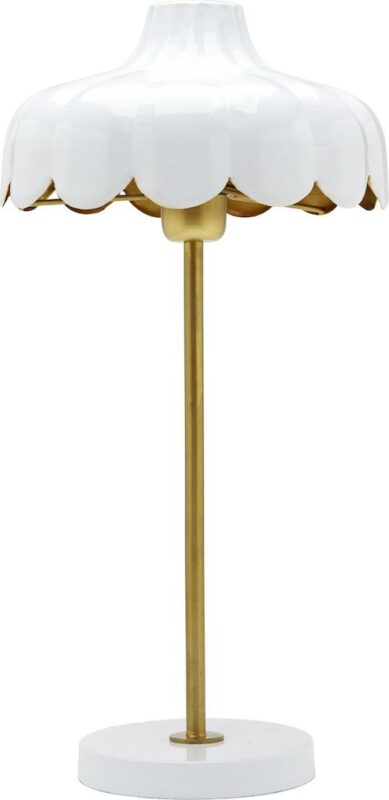 Wells bordslampa, White/Gold 50cm