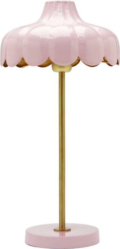Wells bordslampa, Pink/Gold 50cm