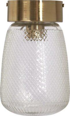 Juliette taklampa, Clear/Brass 20cm