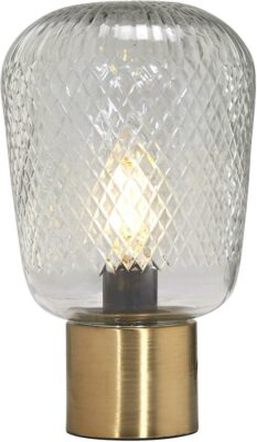 Juliette bordslampa, Clear/Brass 21cm